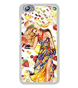 Fruit Girl 2D Hard Polycarbonate Designer Back Case Cover for Micromax Canvas Fire 4 A107