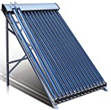 15 Tube Duda Solar Water Heater Collector 45° Frame Evacuated Vacuum Tubes SRCC Certified Hot