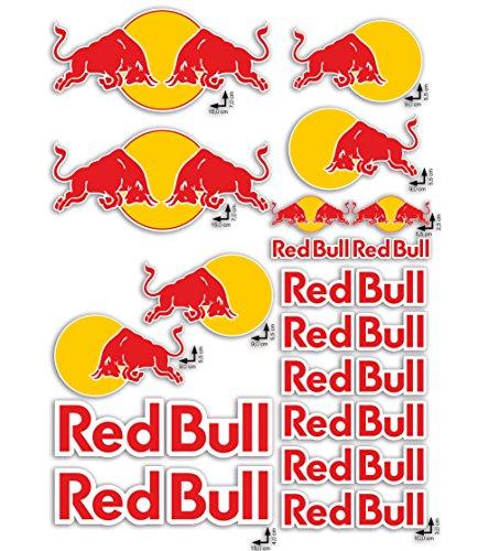 Klebstoffe stickers RED BULL LOGO 18pz limited edition Auto Motorrad Helm Fahrrad mobil