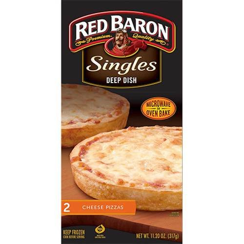 Red Baron Deep Dish Single Cheese Pizza, 12 Ounce -- 12 per case. (Frozen Cheese Pizza compare prices)