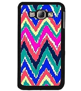 Printvisa Multicoloured Zig Zag Pattern Back Case Cover for Samsung Galaxy A8::Samsung Galaxy A8 A800F