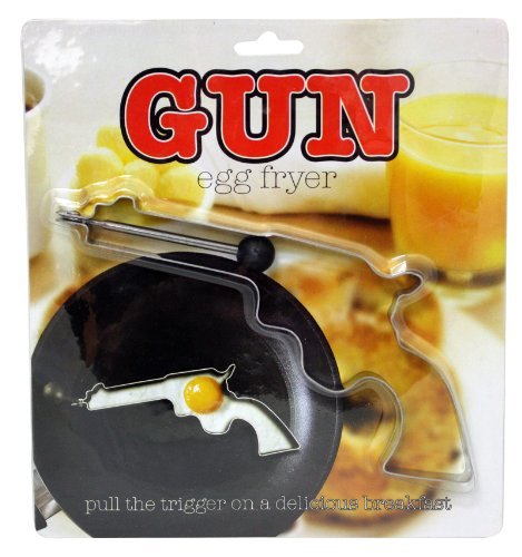 Island Dogs 54677 Gun Egg Fryer, Silver