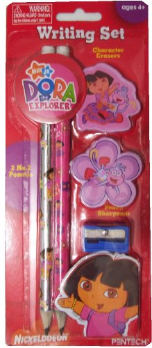 Dora the Explorer Pencil Set (Pencils, Erasers, Sharpener) by NICK JR
