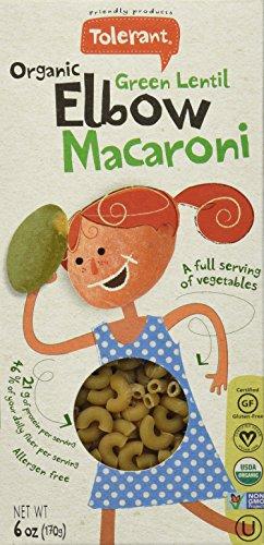 TOLERANT Organic Non-GMO (GREEN LENTIL) Macaroni 6-PACK (Green Lentil Pasta compare prices)