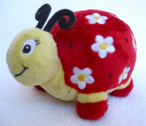 "Starbucks Red Floral Ladybug 5"" Plush Bean Bag - 1"