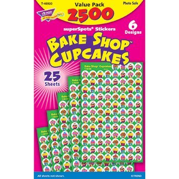 Bake Shop Cupcakes superSpots Stickers Value Pack (Bake Stickers compare prices)