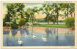 1940s Vintage Postcard - View of Chautauqua Lake - Chautauqua New York