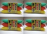 #6: 12 pcs Heavy Multi Colour Sponge Foam Pad Scrubber for cleaning Utensils ,Tiles etc .