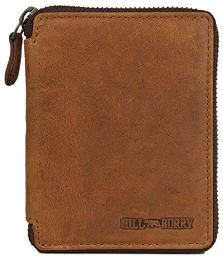 Hill-Burry-Vintage-Geldbrse-aus-echtem-Leder-Model1406HB