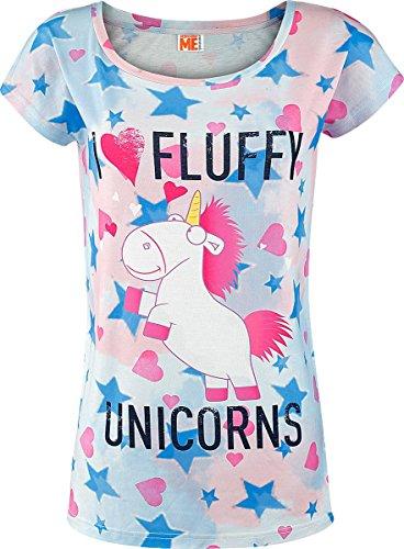 Minions I Love Fluffy Unicorns Maglia donna multicolore M