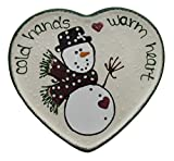 1996 Expressly Yours Cold Hands Warm Heart Hand Painted Snowman Plate