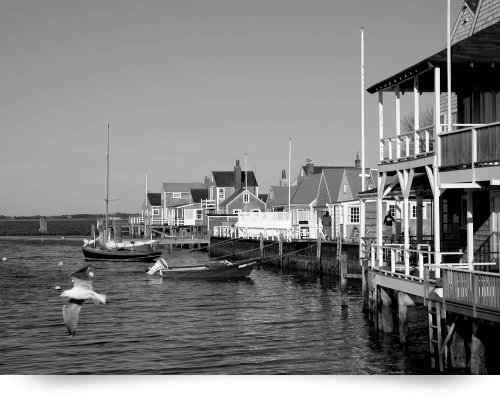 Nantucket Harbor Waterfront (Giclee Art Print), George Riethof front-957215