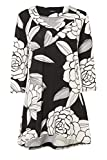 Womens Floral Wool Touch Tunic - Ladies - White - Size 10 14