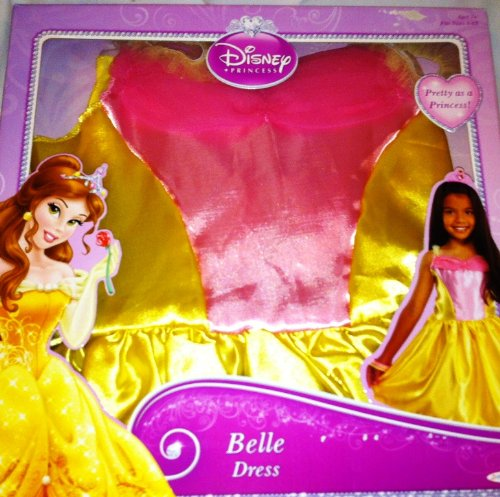 Disney Princess Belle Dress - Girls Sizes 4-6x