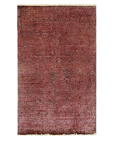 nuLOOM One-of-a-Kind Hand-Knotted Vintage Overdyed Area Rug, Rose, 3' 1 x 4' 10