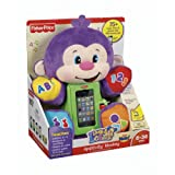 Fisher-Price Laugh and Learn Apptivity Cute Soft Fluffy Plush Monkey toy w/ durable protective case
