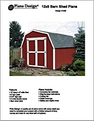 12' X 8' Barn/gambrel Storage Shed Project Plans -Design #31208