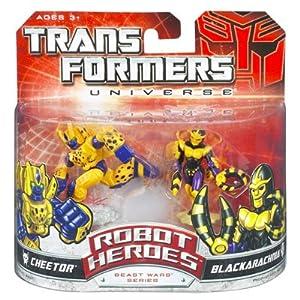 Transformers Universe Robot Heroes Beast Wars Series 2-Pack Cheetor and Blackarachnia