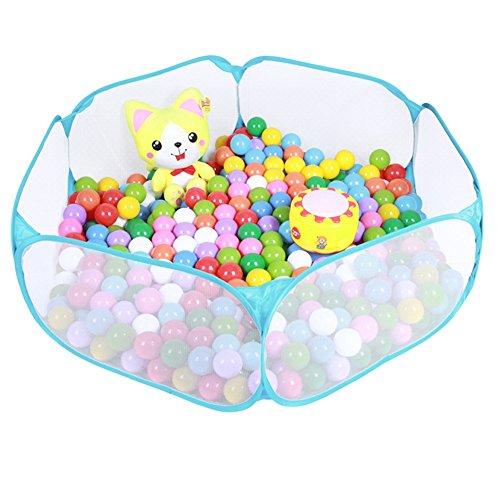 三和順 子供用 ボールプール 専用収納ケース付き 知育玩具 屋内遊具 (ブルー)
