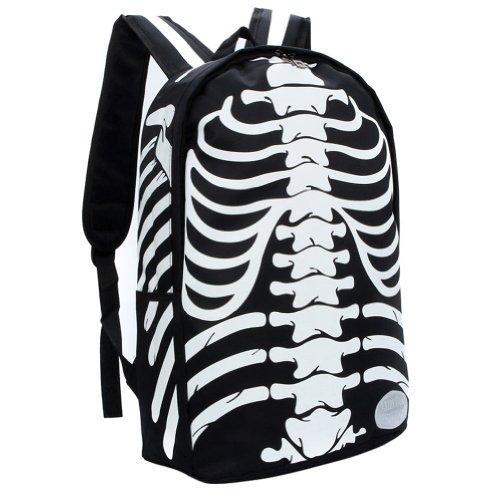 Cool Backpack, Skull Backpacks, Bags (Black + White)