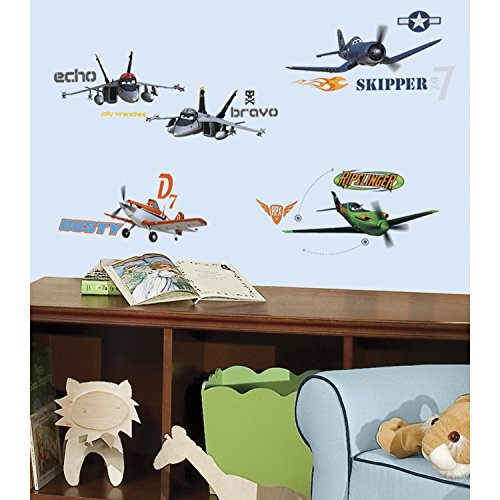 Roommates Rmk2140Scs Planes Peel And Stick Wall Decals, 1-Pack front-1036146