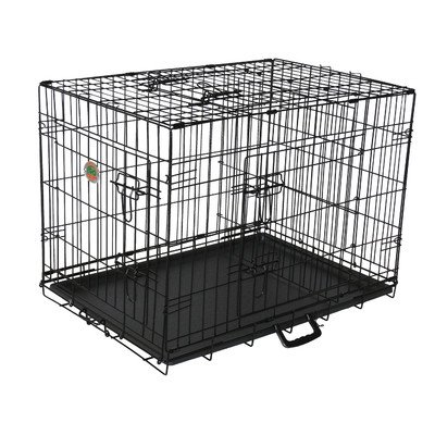 Gopetclub 3-Door Metal Pet Crate, 42-Inch