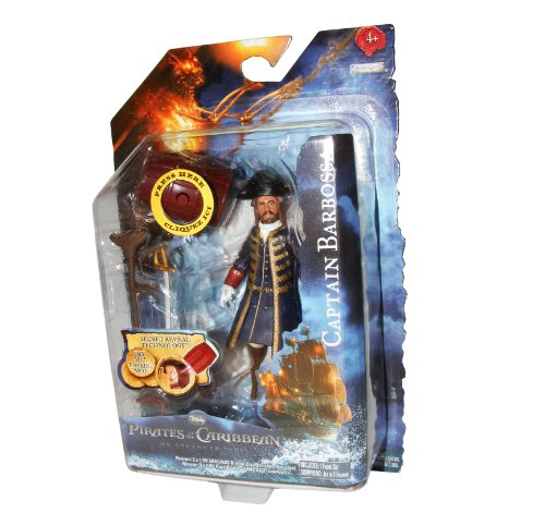 Picture of Jakks Pacific Pirates of the Caribbean On Stranger Tides 4 Inch Series 1 Action Figure Hector Barbossa (B005FVCFJS) (Jakks Pacific Action Figures)