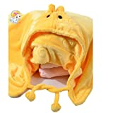 2014 New Children Hooded Cloak Cape Soft Cloak Coats Baby's Necessary Cloak to Keep Warm Baby Blanket Infant Sleeping Bags (M, Yellow)