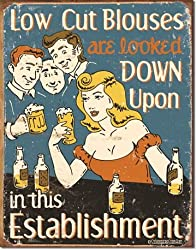 Schonberg - Low Cut Blouses Tin Sign