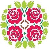 """DIY Rangoli for Dipawali - Rose Design (15 """" x 15"""")"""