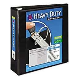 Avery EZD Heavy-Duty Reference View Binders EZD - Letter - 8.5amp;quot; x 11amp;quot; - 670 Sheet - 3amp;quot; Capacity - 1 Each - Black