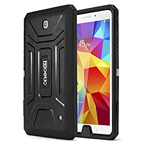 Samsung Galaxy Tab 4 8.0 Case - Poetic Samsung Galaxy Tab 4 8.0 Case [Revolution Series] - [Heavy Duty] [Dual Layer] Complete Protection Hybrid Case with Built-In Screen Protector for Samsung Galaxy Tab 4 8.0 Black (3 Year Manufacturer Warranty From Poetic)