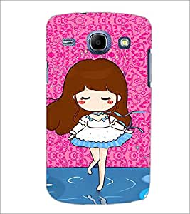 PrintDhaba Cute Girl D-2920 Back Case Cover for SAMSUNG GALAXY MEGA 5.8 (Multi-Coloured)