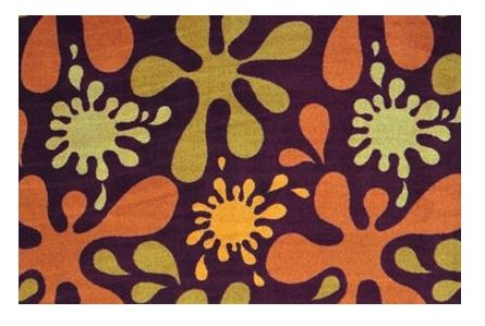 Splat Burgundy Multi - 6'X9' Custom Stainmaster Premium Nylon Carpet Area Rug ~ Bound Finished Edges front-1024502