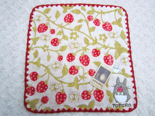 My Neighbor Totoro 'Ghibli' ★ and ★ hand towel [Strawberry forest] applique embroidery