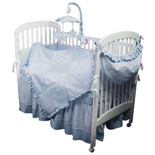 Hoohobbers 4-Piece Crib Bedding, Blue Sherbert