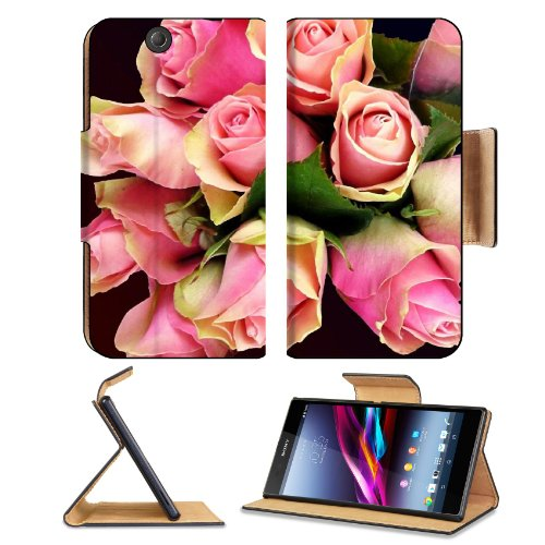 Roses Flowers Babys Breath Bouquet Tenderness Design Sony Xperia Z Ultra Flip Case Stand Magnetic Cover Open Ports Customized Made To Order Support Ready Premium Deluxe Pu Leather 7 1/4 Inch (185Mm) X 3 15/16 Inch (100Mm) X 9/16 Inch (14Mm) Liil Sony Xper front-758735