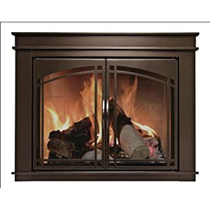 Sale Pleasant Hearth Fn 5702 Fenwick Fireplace Glass Door Oil Rubbed Bronze Large For Sale
