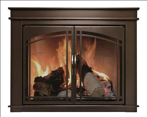 Pleasant Hearth FN-5701 Fenwick Fireplace Glass Door, Oil Rubbed Bronze, Medium (Tempered Glass Cabinet Doors compare prices)