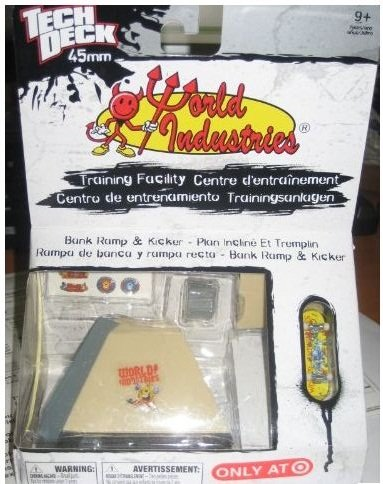 Tech Deck World Industries Micro Bank Ramp & Kicker - 1