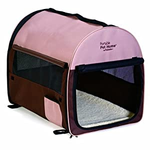 Petmate Portable Pet Home, Medium, Dark Taupe/Coffee Grounds Brown