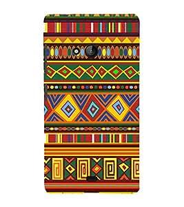 Rangoli Design Pattern 3D Hard Polycarbonate Designer Back Case Cover for Lumia Lumia 540 :: Microsoft Lumia 540