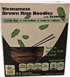Happy Pho Vietnamese Brown Rice Noodles with Seaweed, 8.6 Ounce -- 6 per case.
