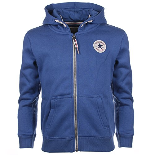 Converse C.T.P Core Zip, Pullover Con Cappellopuccio Bambino, Blue (Roadtrip Blue/White), Small