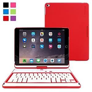 Snugg iPad Mini 1 / 2 / 3 360° Rotatable Keyboard Case – Ultra Slim Keyboard Case with Bluetooth Connectivity & Lifetime Guarantee (Red) For Apple iPad Mini 1 / 2 / 3