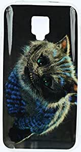 FCS Designer Silicon Back Case for Micromax Bolt Q325 With Printed Design