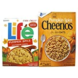 Variety Pack - General Mills Cheerios (10.8 Oz) /Quaker Life Multigrain Cereal (13 Oz) - Limited Edition Pumpkin Spice