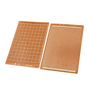 2 Pcs 2.54mm Single Side PCB Board Prototype Breadboard 12cm x 18cm