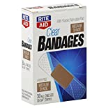 Rite Aid Bandages, Latex Free, Clear, Medium Shade, All One Size, 30 bandages
