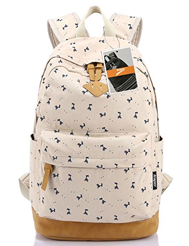 leaper-lightweight-canvas-laptop-backpack-cute-school-bags-large-deer-beige